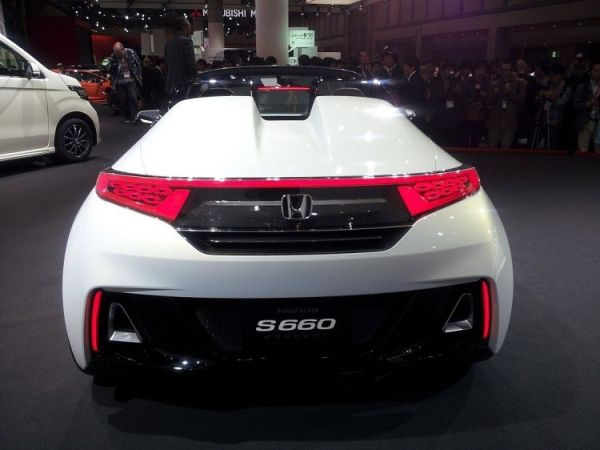 2016 Honda S660 - Rear View