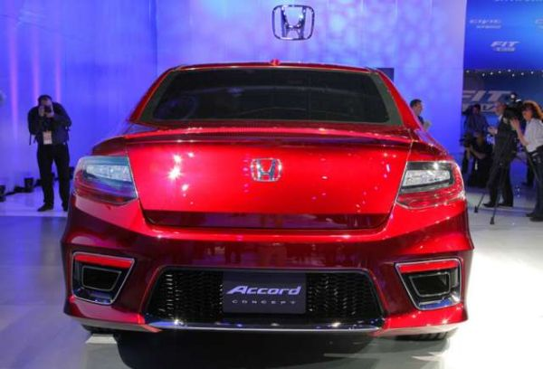 Rear View of Honda Accord Coupe 2015