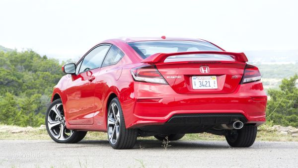 Rear View of 2015 - Honda Civic Si Coupe