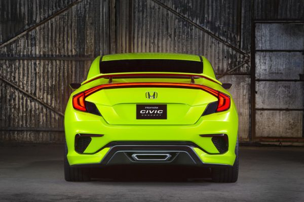 Rear View of 2016 - Honda Civic Hatchback