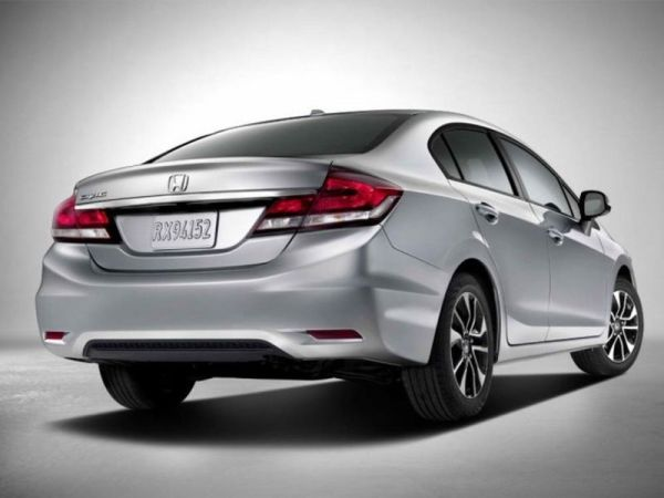 Rear View of 2016 - Honda Civic Sedan EX